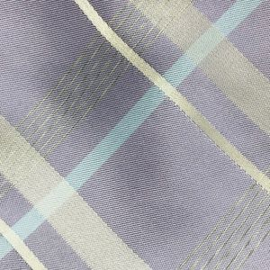 Calvin Klein Men's Purple Tartan Pattern Tie